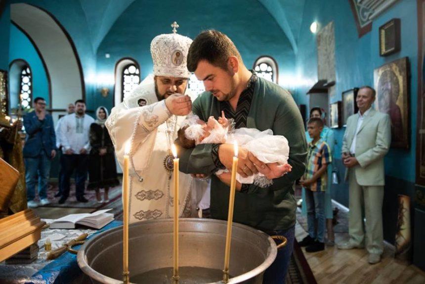 Онучку генпрокурора Юрія Луценка охрестили у Видубицькому монастирі УПЦ КП (фото)